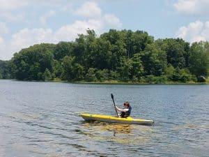 Kayaking Shakamak State Park Indiana